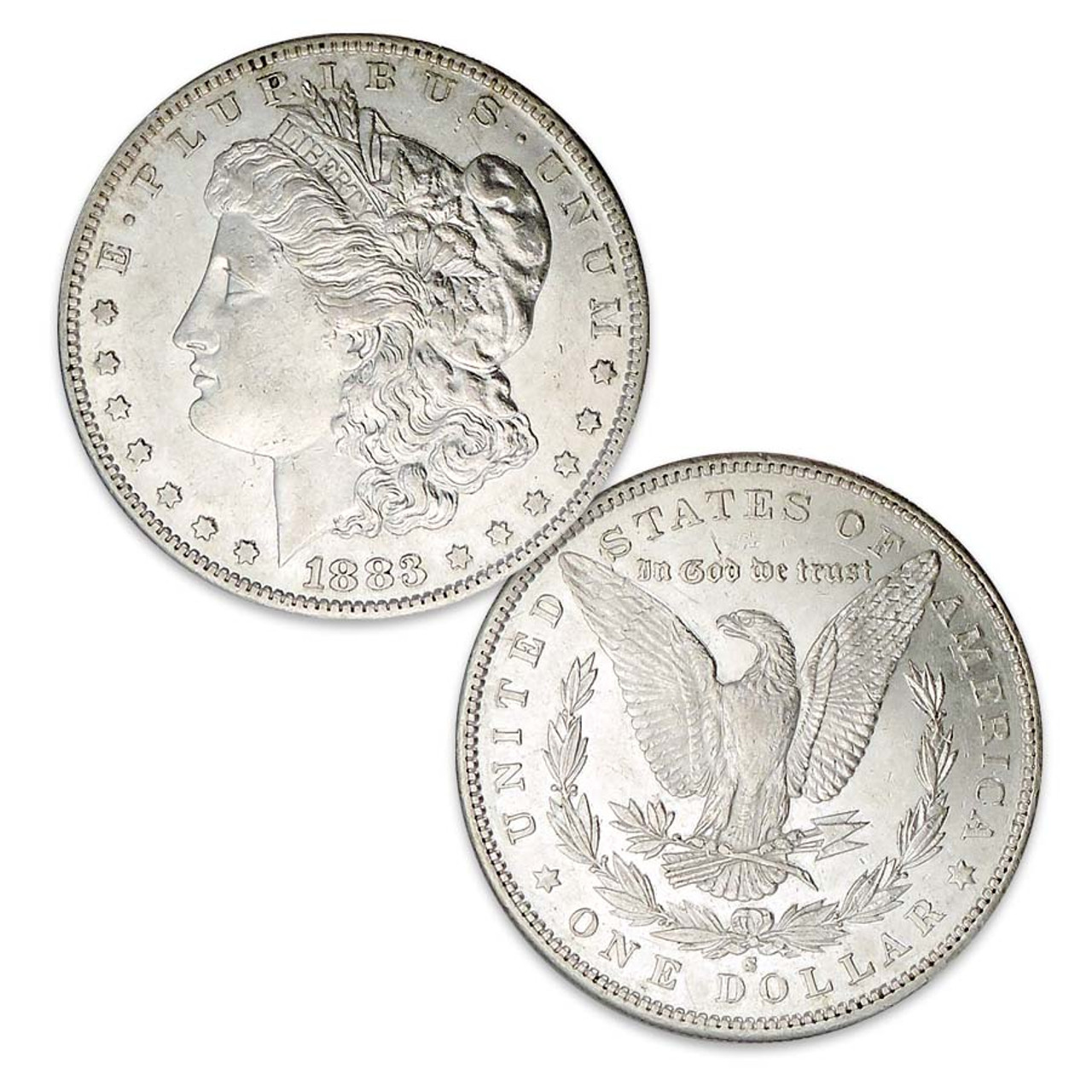 1883-S Morgan Silver Dollar About Uncirculated Image 1