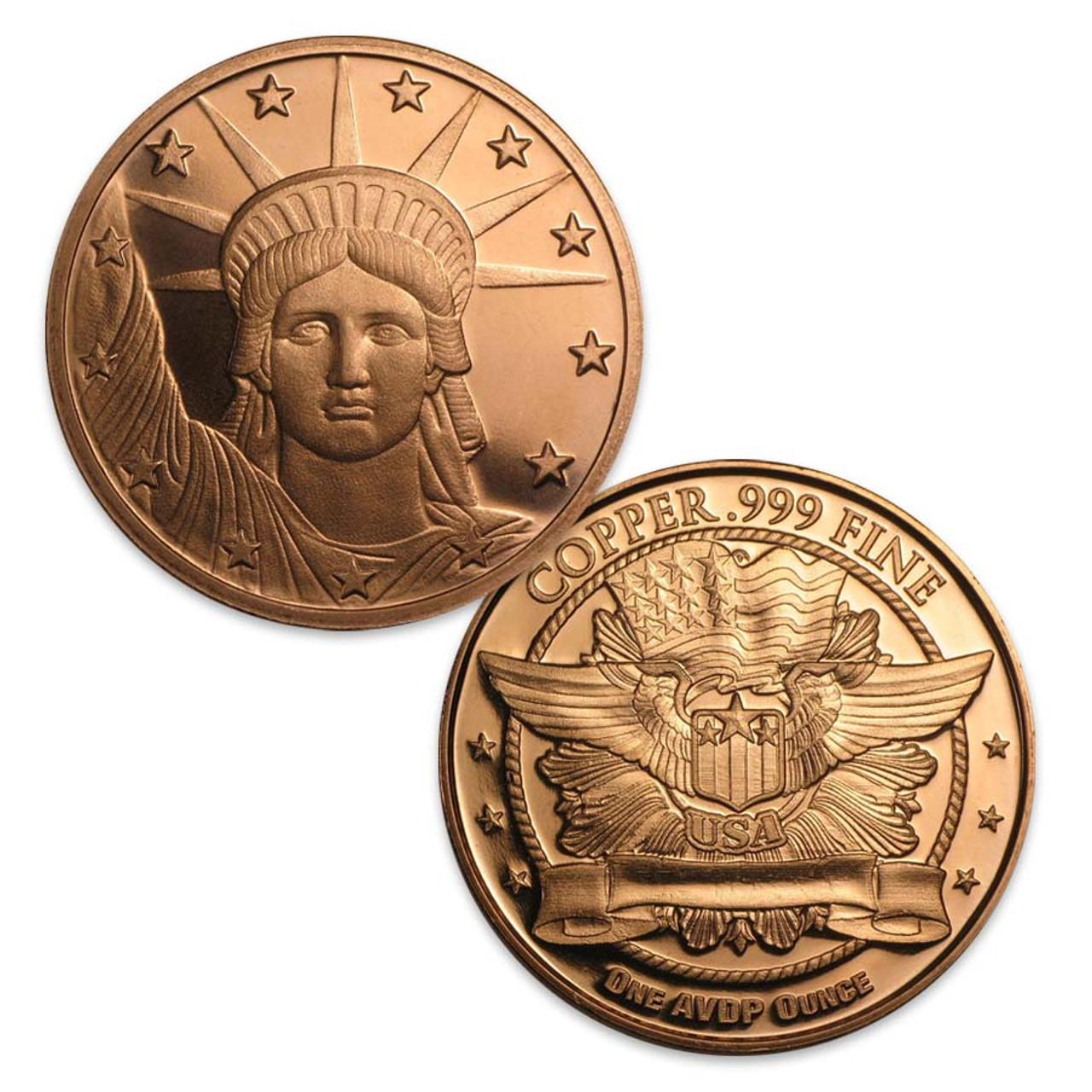 Statue of Liberty 1-Oz. Copper Round