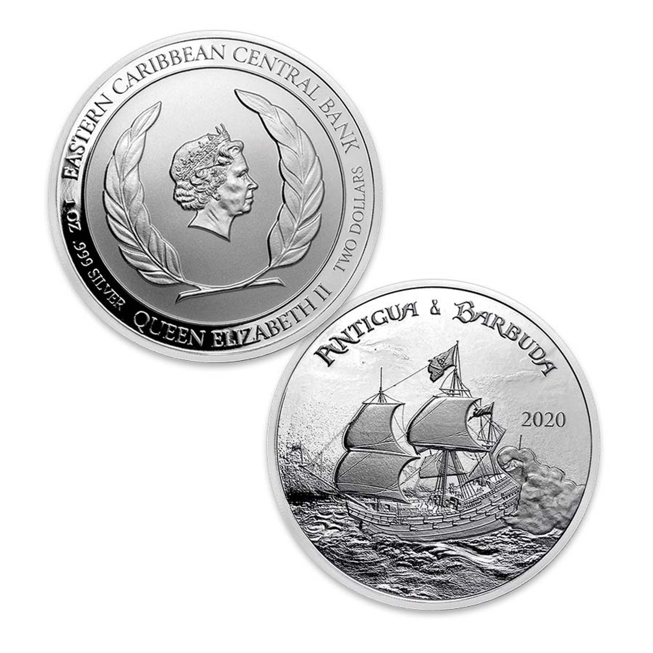 Antigua & Barbuda 2020 Rum Runner 1-Oz. Silver Brilliant Uncirculated
