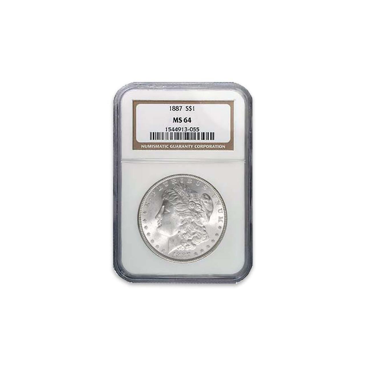 1887-P Morgan Silver Dollar Certified MS-64