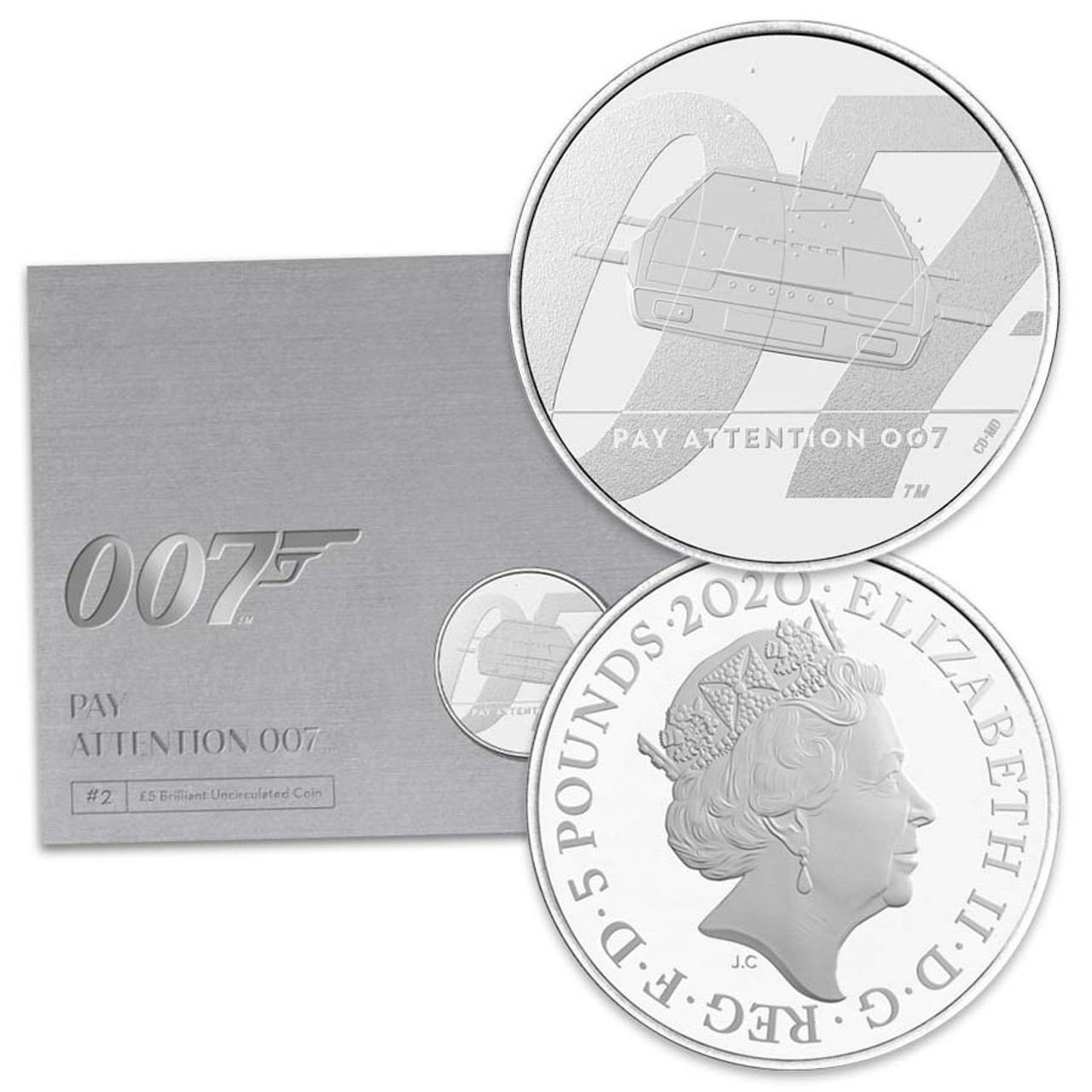 Great Britian 2020 James Bond Wet Nellie Copper-Nickel £5 Brilliant Uncirculated