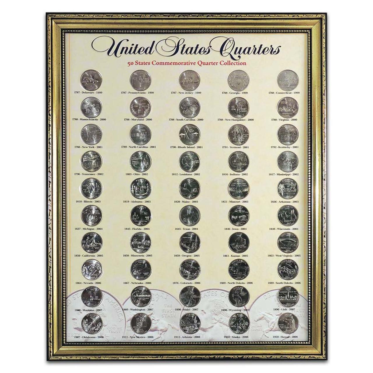 1999-2008 State Quarter Set in Frame