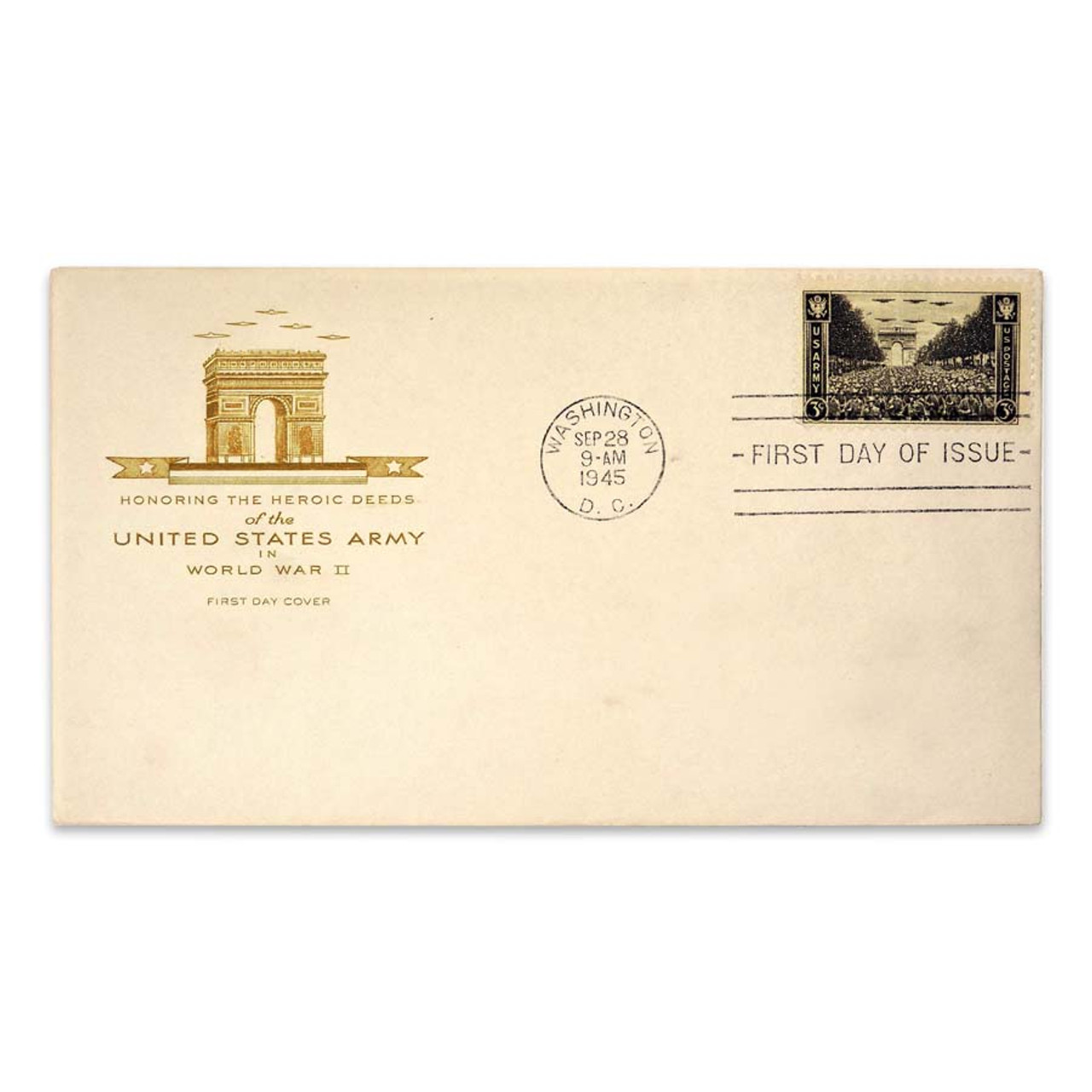 1945 Army World War II First Day Cover
