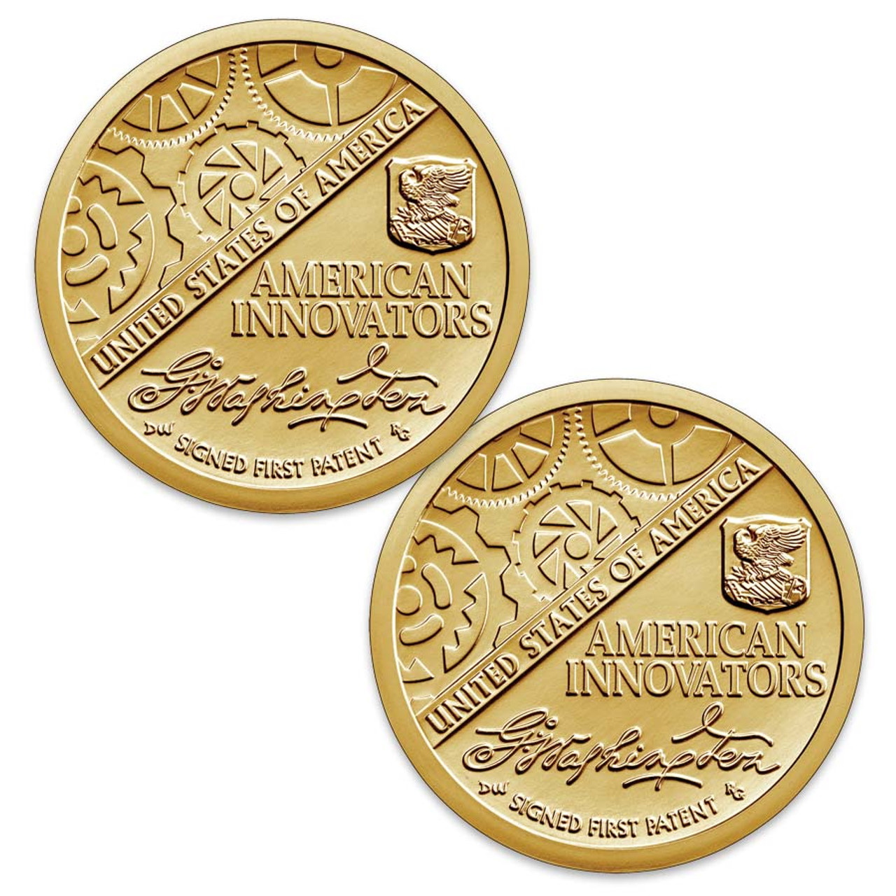 2018-P & D First Patent Innovation Dollar Pair Brilliant Uncirculated