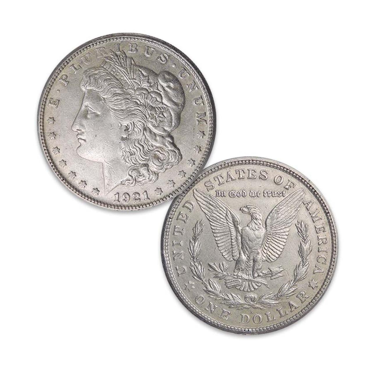 1921-S Morgan Silver Dollar Extra Fine