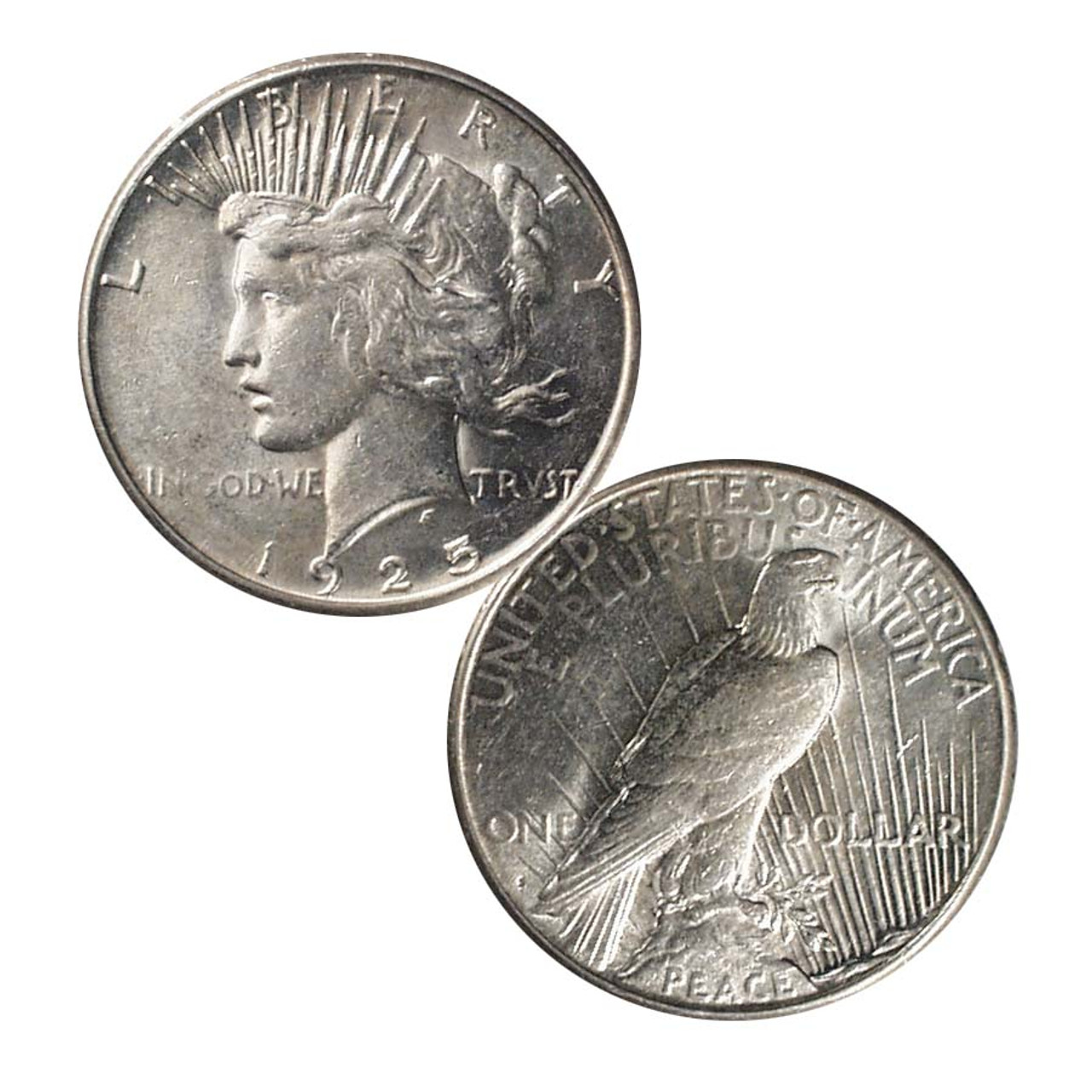 1925-S Peace Silver Dollar About Uncirculated