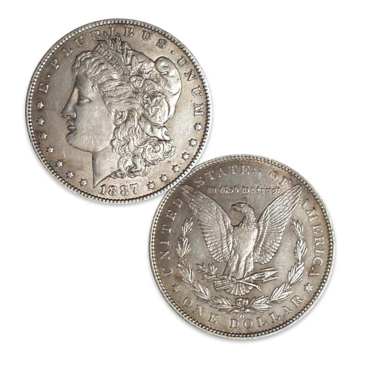 1887-O Morgan Silver Dollar About Uncirculated