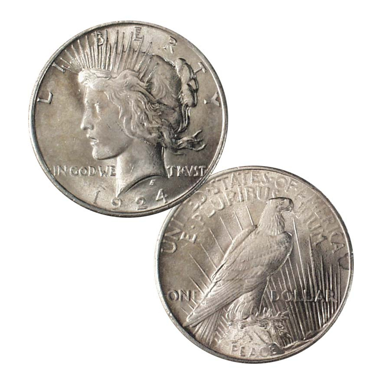 1924-P Peace Silver Dollar Extra Fine