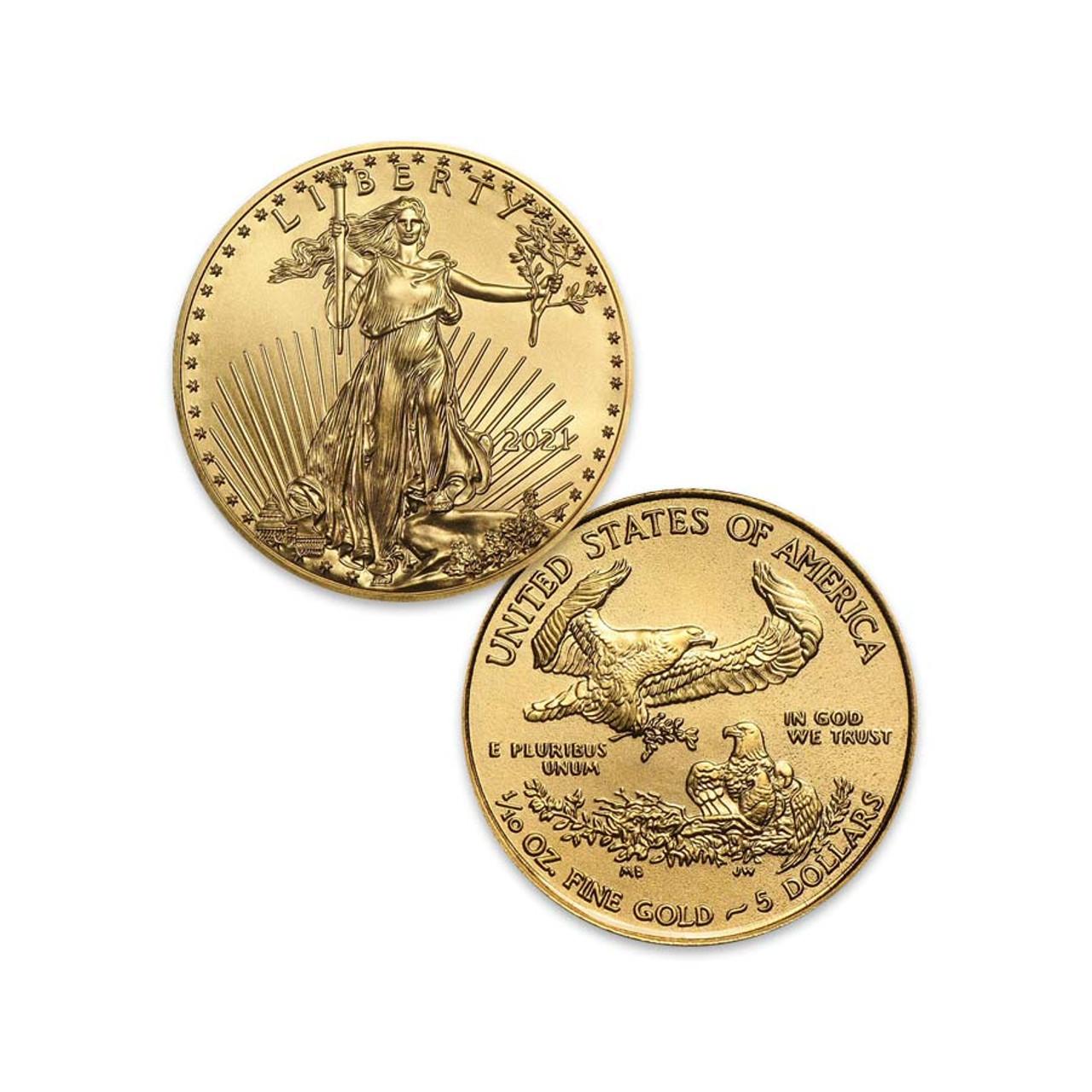 2021 1/10-Oz. $5 Gold Eagle Brilliant Uncirculated