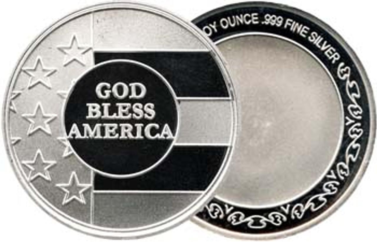 God Bless America 1-Oz. Silver Round