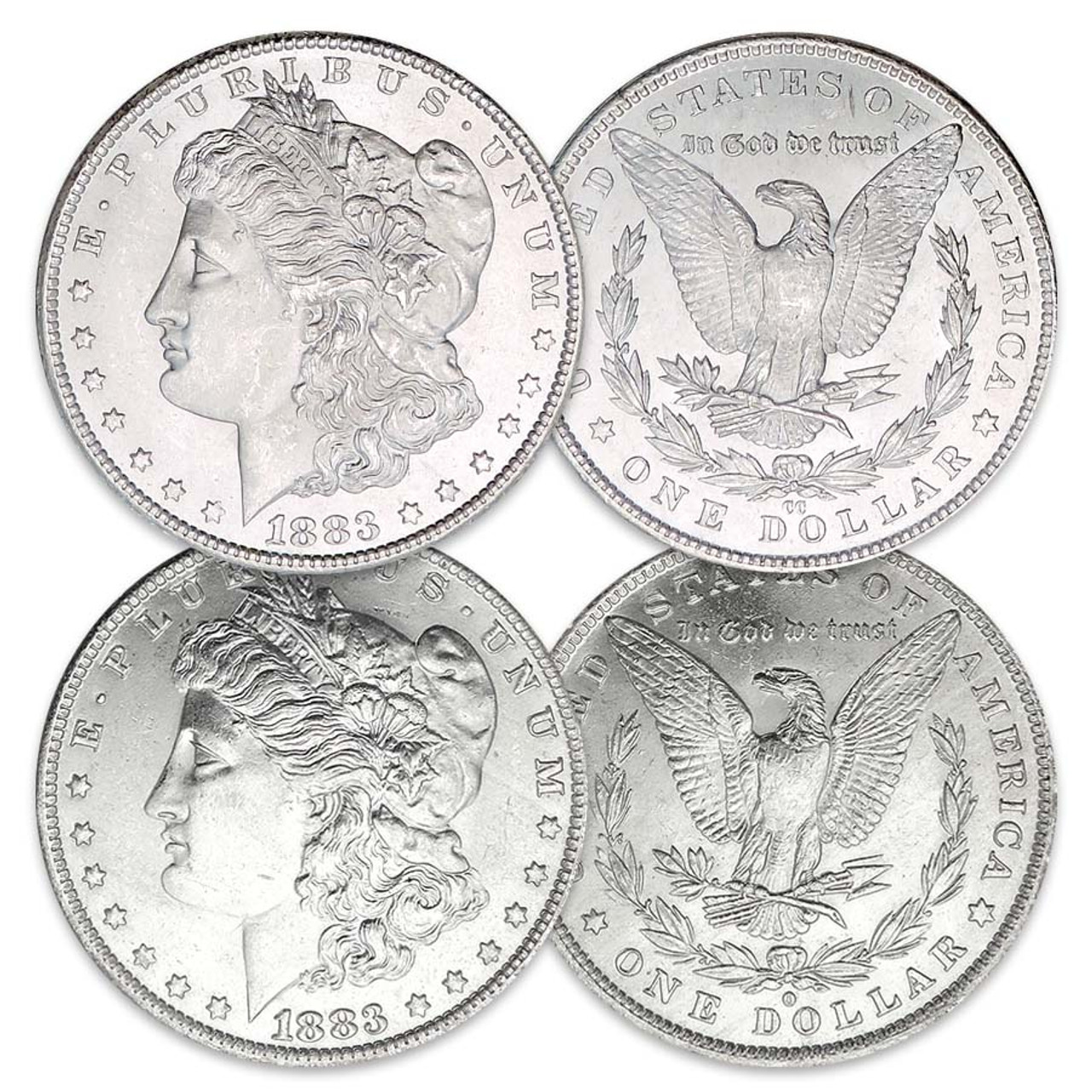 1883-CC Morgan Silver Dollar Brilliant Uncirculated with FREE Morgan Silver Dollar