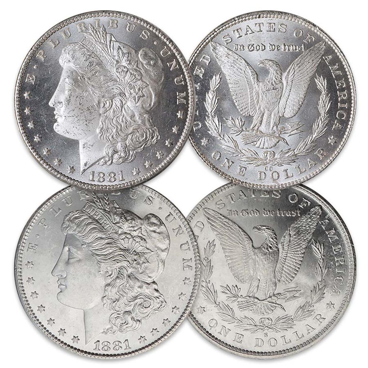 1881-CC Morgan Silver Dollar Brilliant Uncirculated with FREE Morgan Silver Dollar