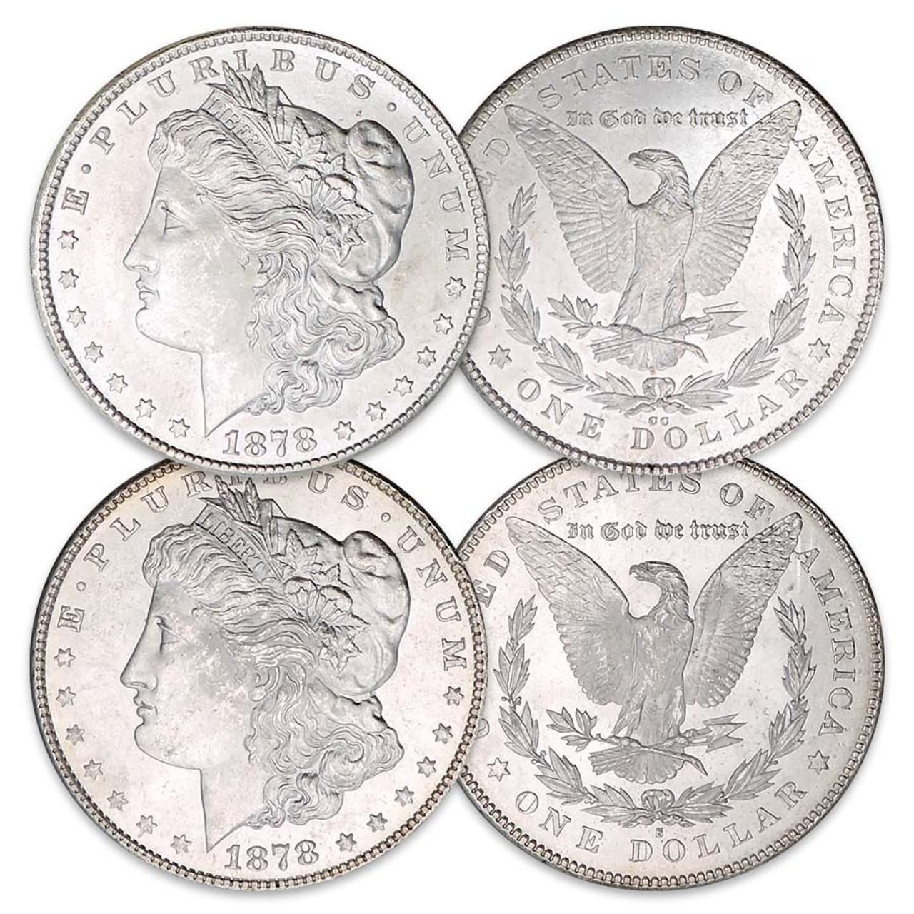 1878-CC Morgan Silver Dollar Brilliant Uncirculated with FREE Morgan Silver Dollar
