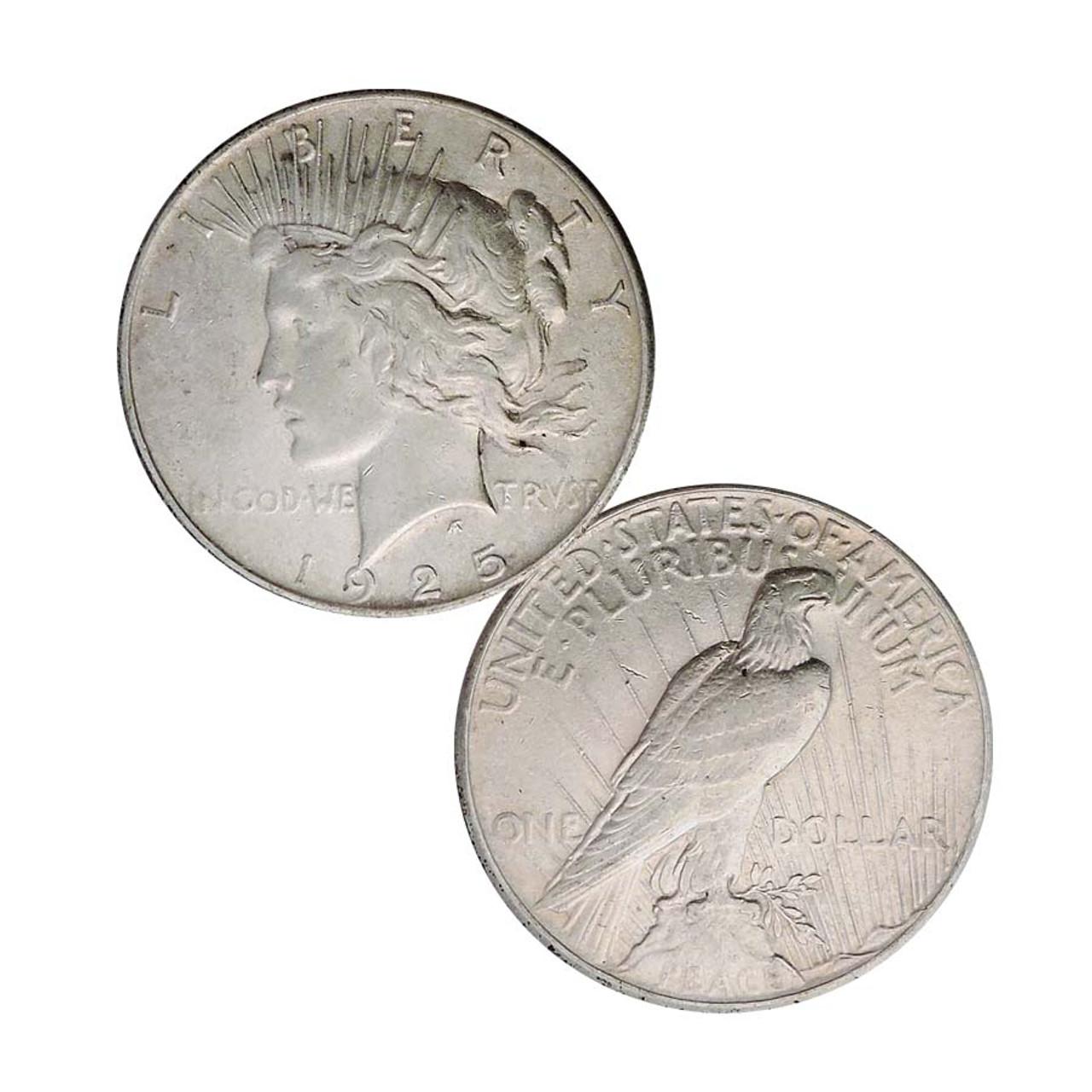 1925-P Peace Silver Dollar Extra Fine