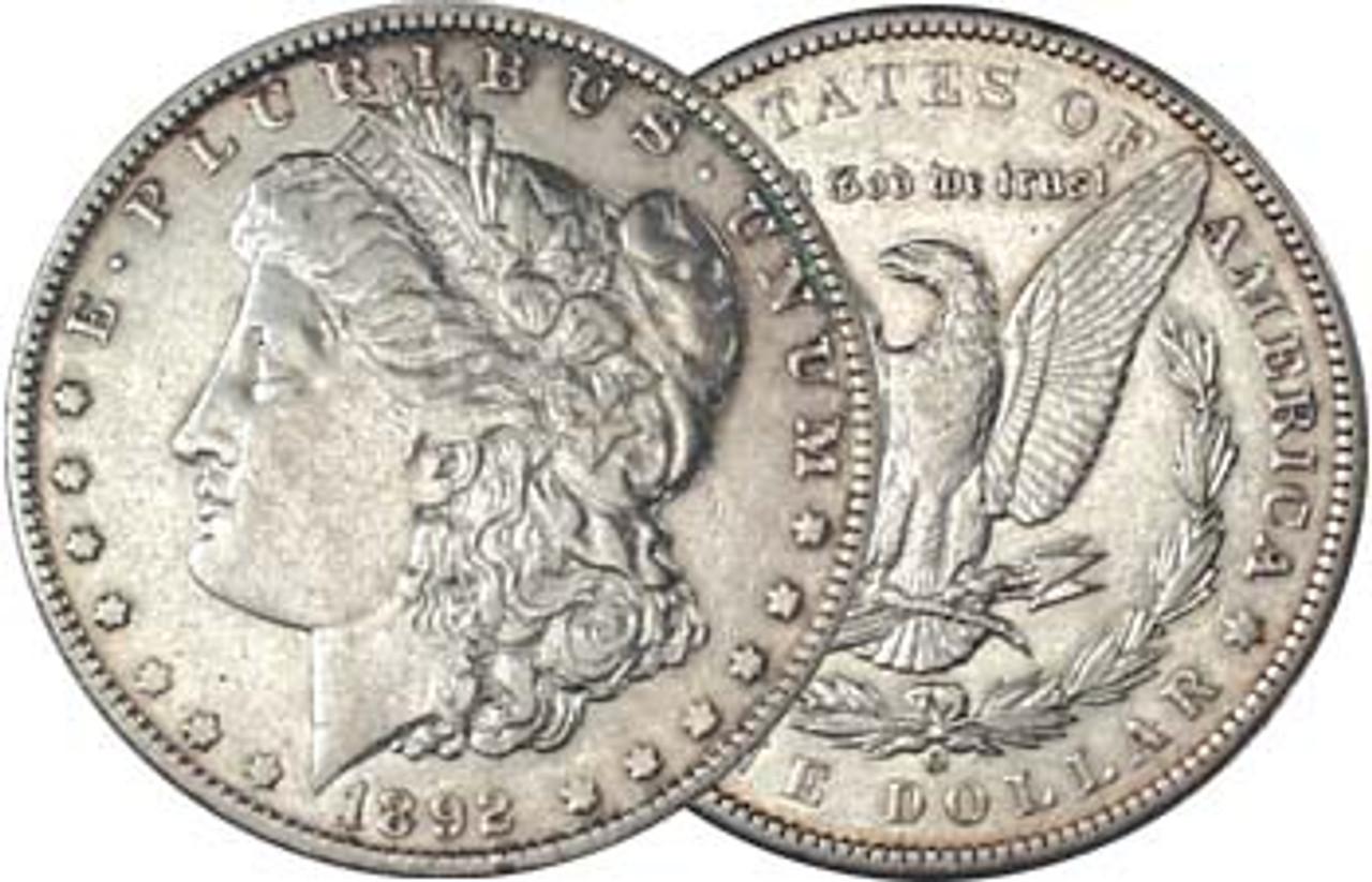 1892-O Morgan Silver Dollar Extra Fine