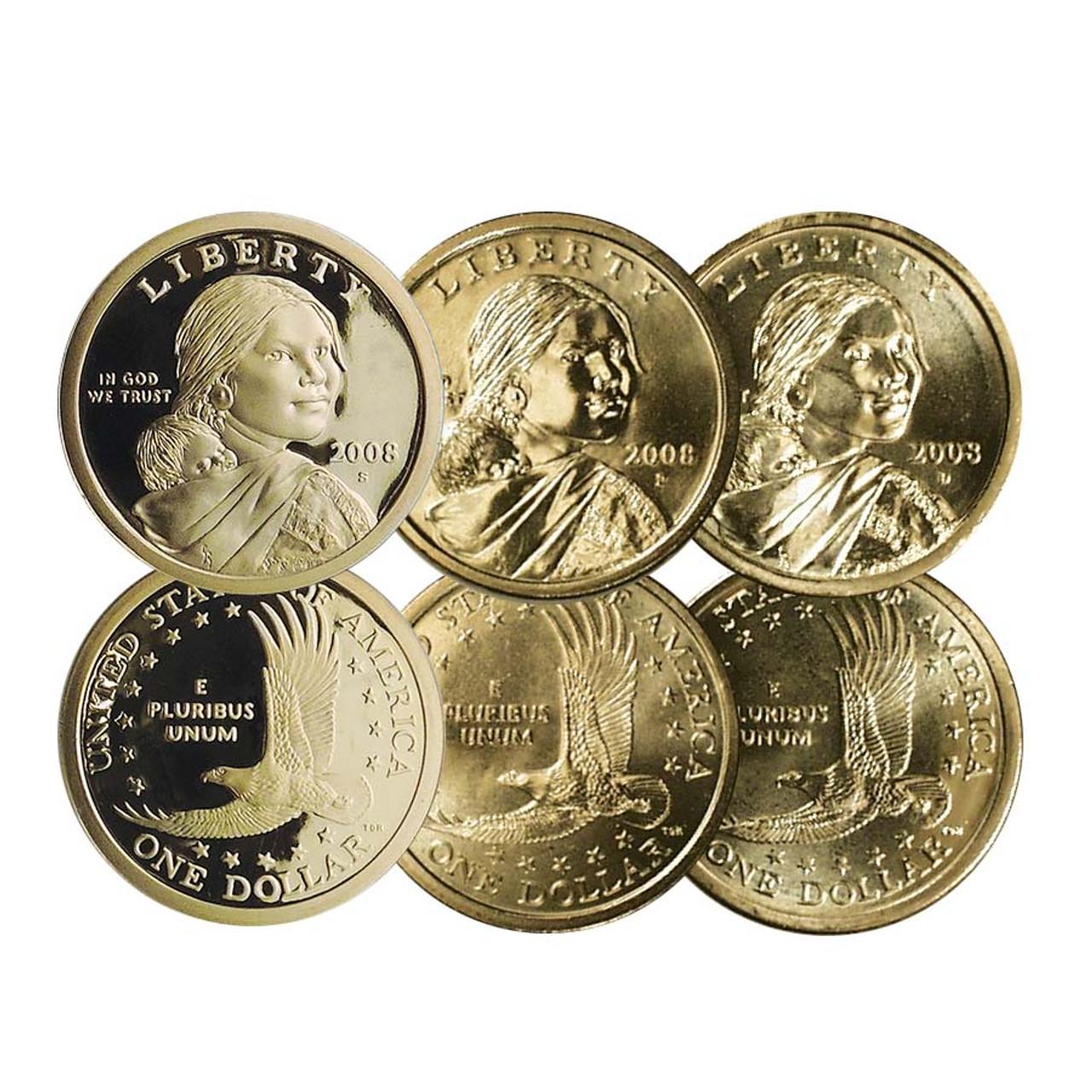 2008 Sacagawea Dollar Proof with FREE P & D BU