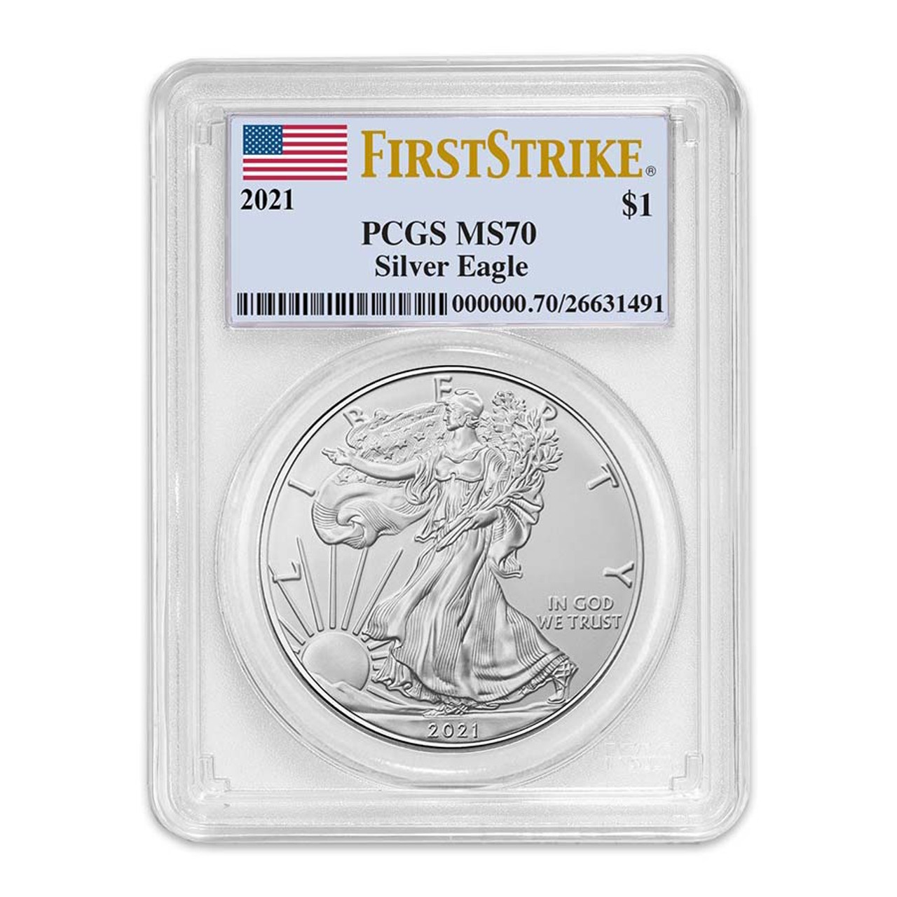 2021 Silver Eagle Certified MS-70