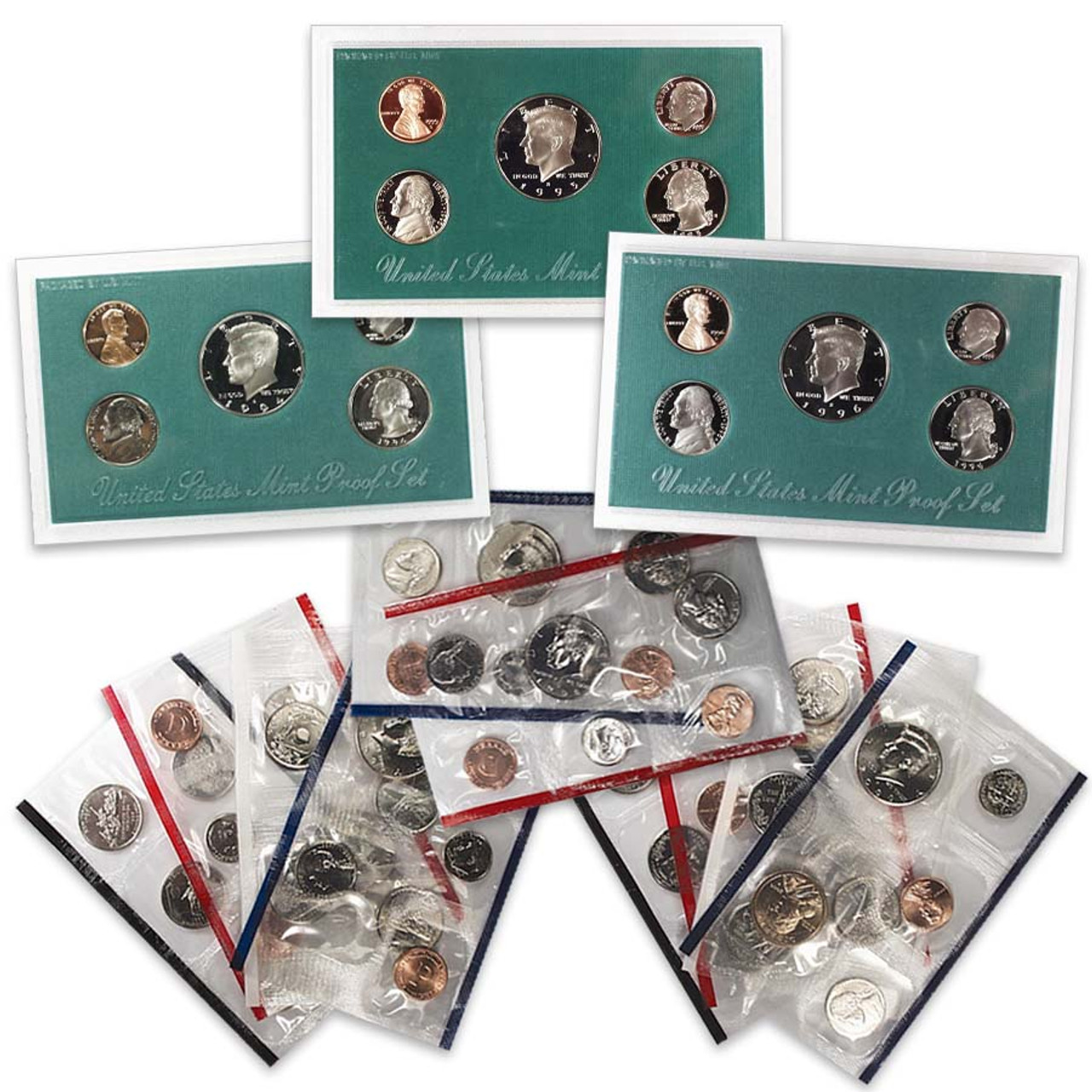 1994-1996 Proof Set & 1998-2000 Mint Set Collection
