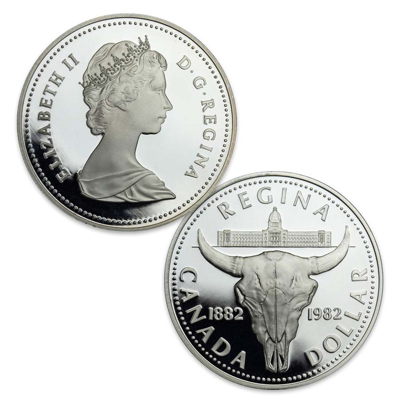 Canada 1982 Bison Silver Dollar Proof Image 1