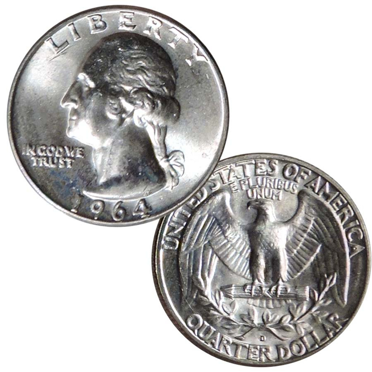 1964 Washington Silver Quarter Brilliant Uncirculated