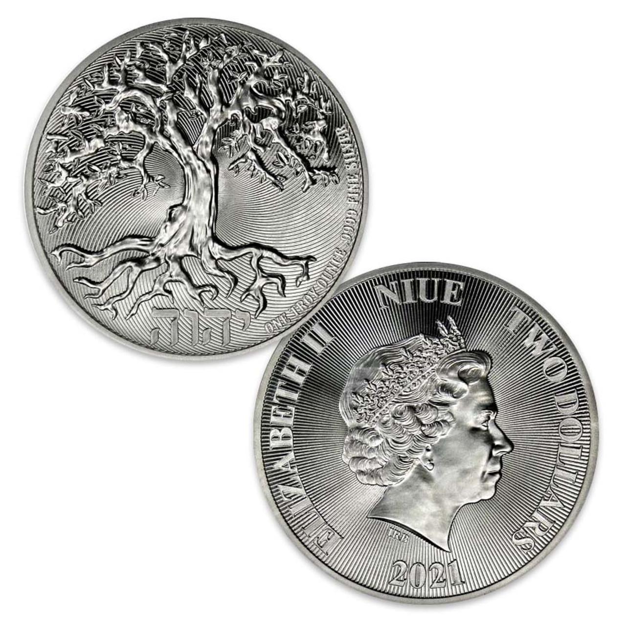 Niue Island 2021 Tree of Life 1-Oz. Silver $2 Brilliant Uncirculated
