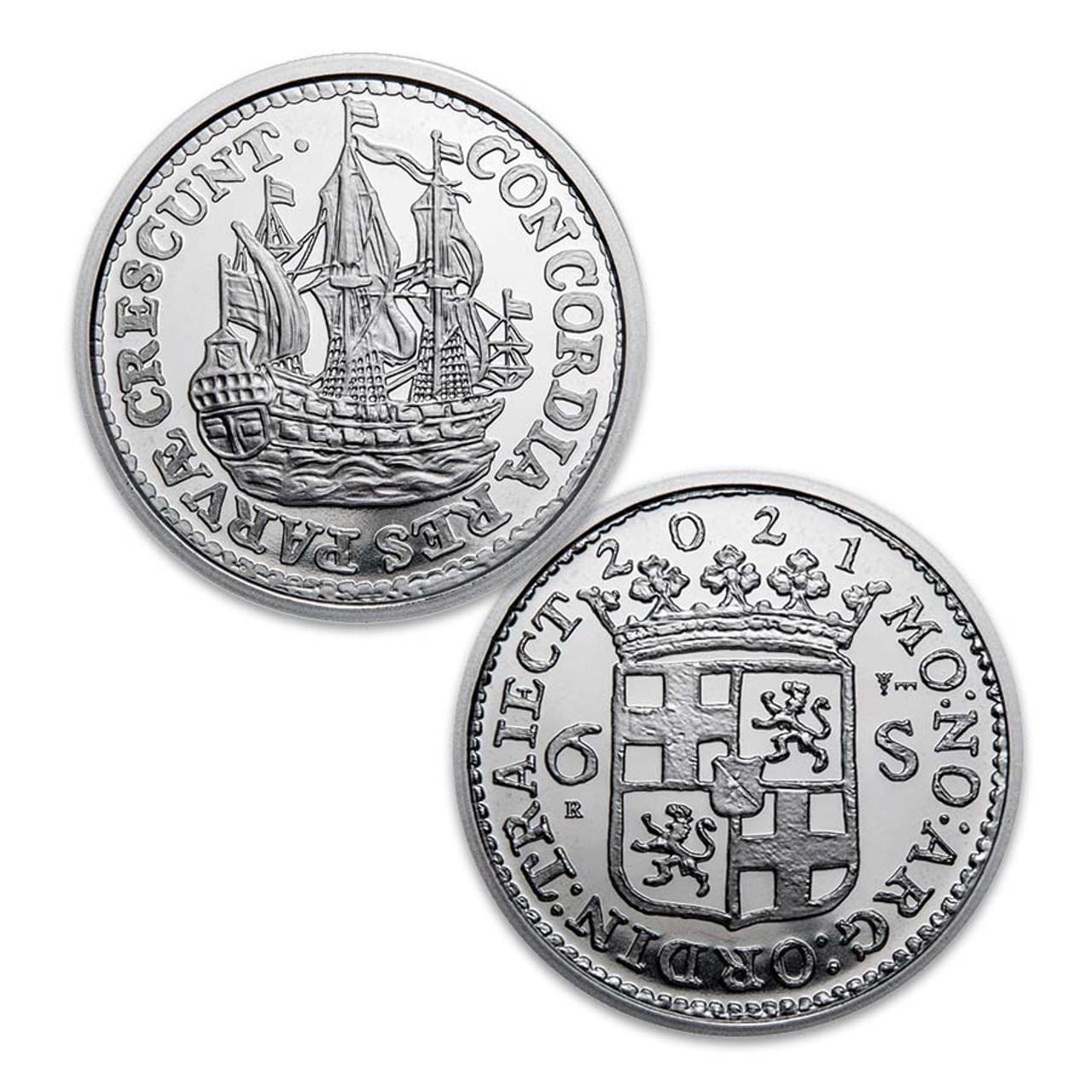 Netherlands 2021 Ship Shilling 1-Oz. Silver Brilliant Uncirculated