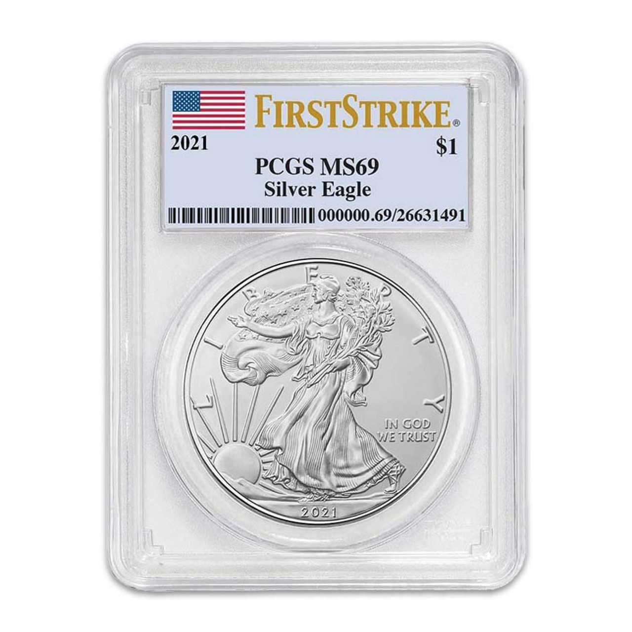 2021 Silver Eagle Certified MS-69