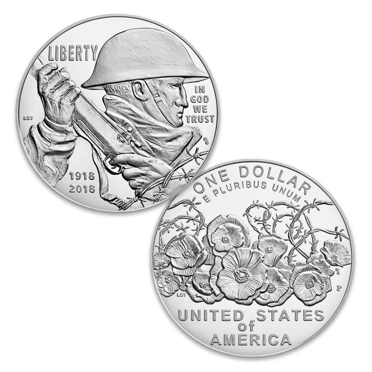 2018 WWl Centennial Silver Dollar Proof