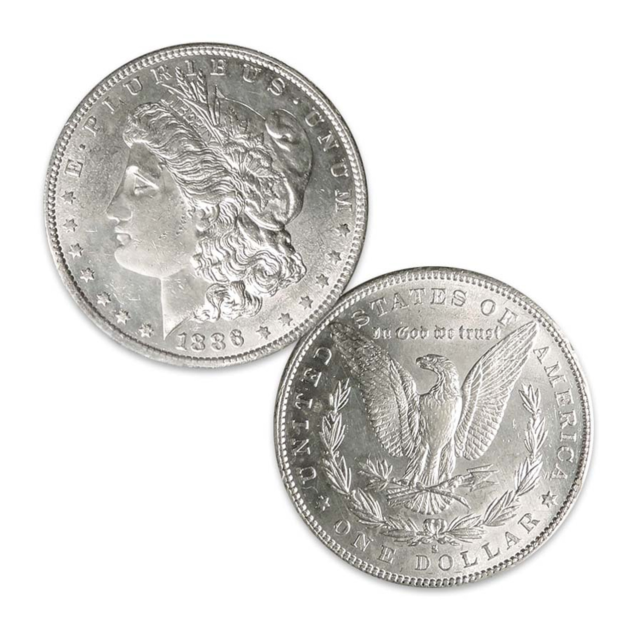 1886-S Morgan Silver Dollar About Uncirculated