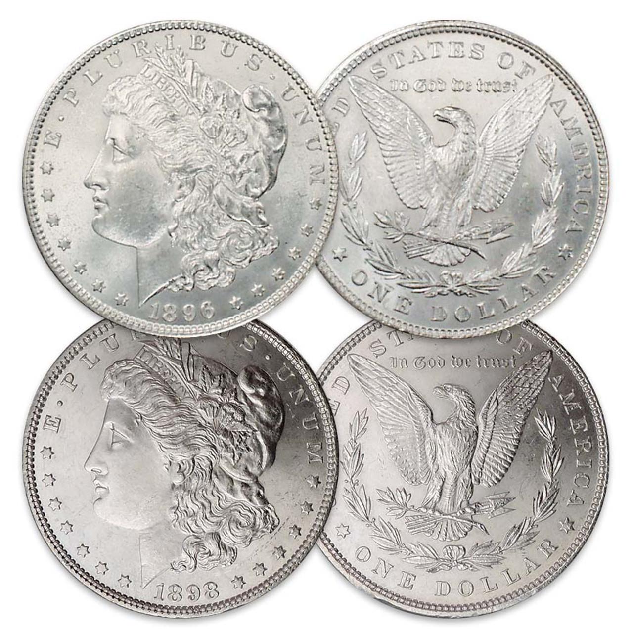 1896-P & 1898-P Morgan Silver Dollar Pair Brilliant Uncirculated