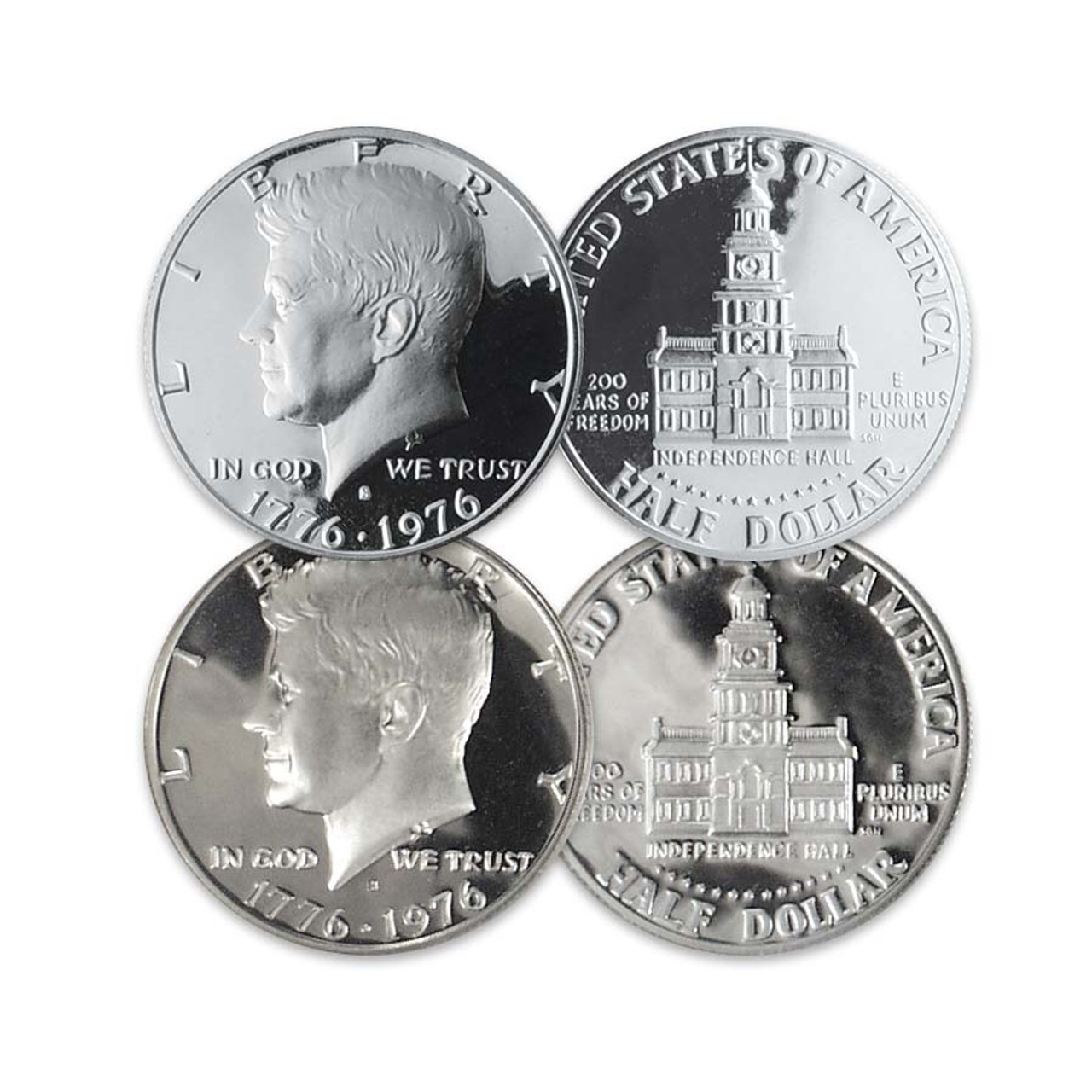 1976-S Kennedy 40% Silver Half Dollar Proof with FREE 1976-S Kennedy CN Proof
