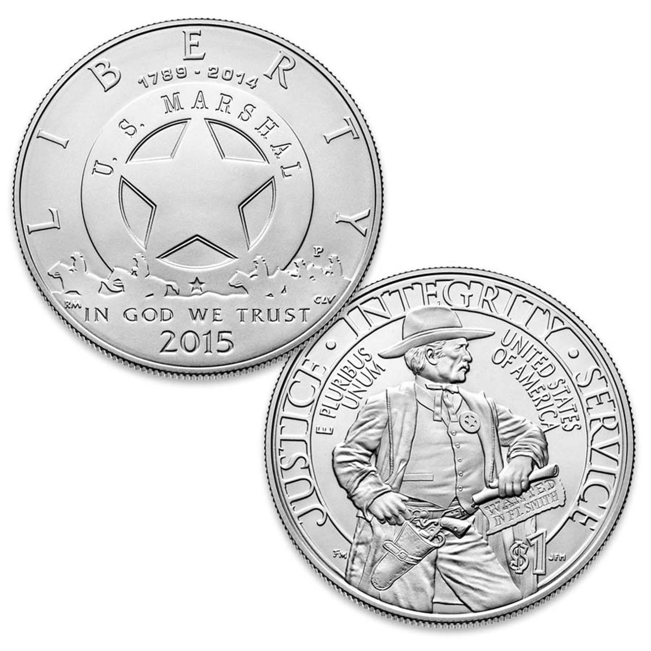 2015 Marshals Service Silver Dollar Brilliant Uncirculated