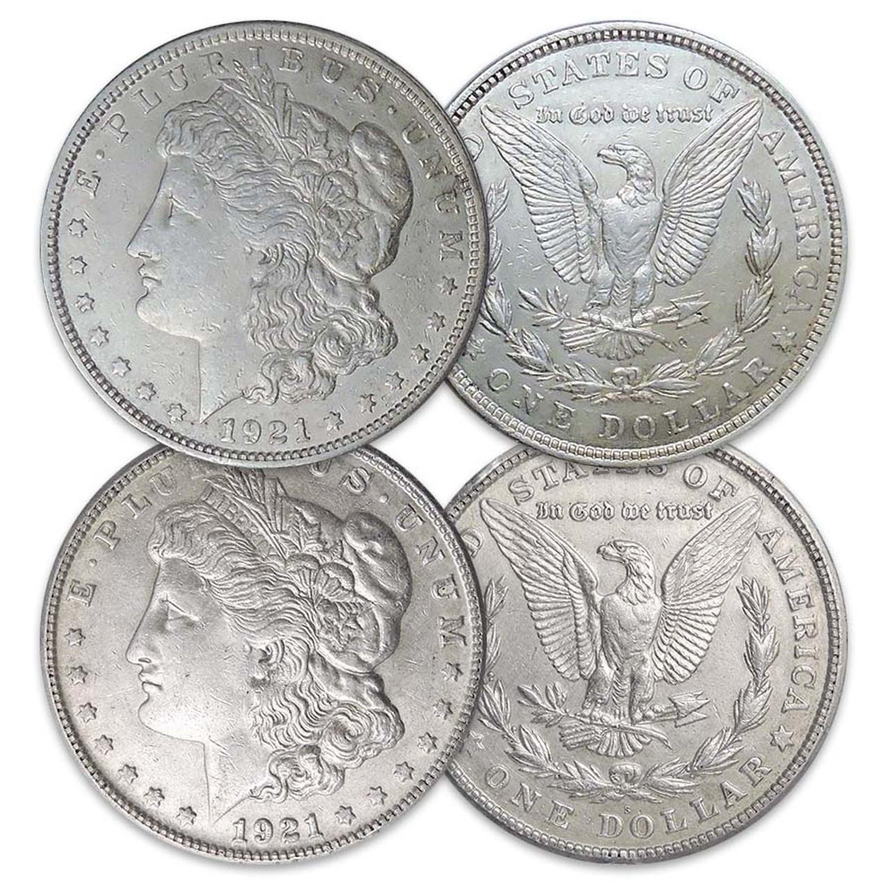 1921-P & S Morgan Silver Dollar Pair Extra Fine