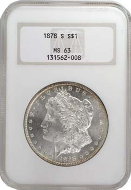 U S  1878-1882 Morgan Silver Dollar 5 Coin S-Mint Set