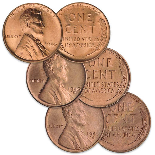 2019 P,D/&S LINCOLN SHIELD CENTS  SET OF 3