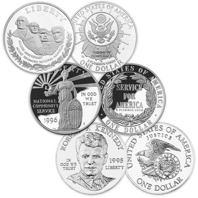 1998 S $1 Robert F Kennedy Commemorative Silver Dollar Coin Choice Uncirculated