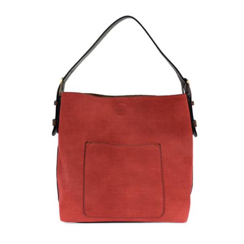 Faux Linen Hobo Bag