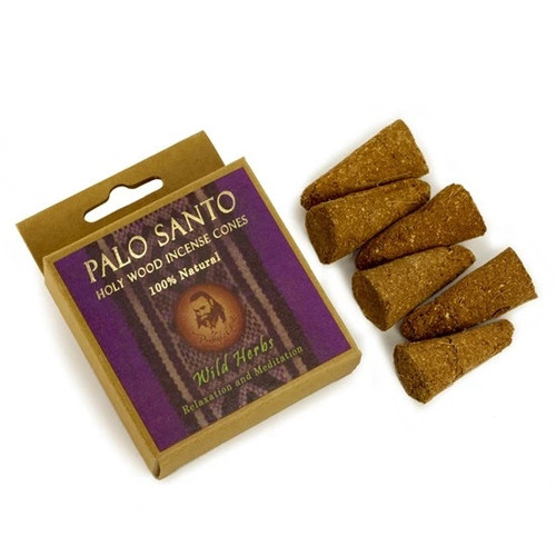 Palo Santo and Wild Herbs Prabhuji Smudging Incense Cones