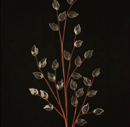 Clear Crystal Leaf Spray