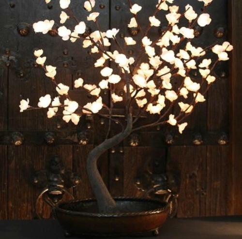 White Bonsai Tree with Bowl