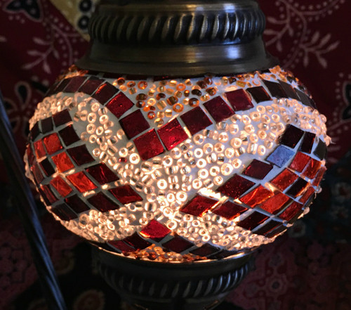 Turkish Mosaic Lantern Gooseneck - Brown
