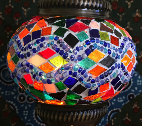 Turkish Mosaic Lantern Gooseneck - Multicolor2