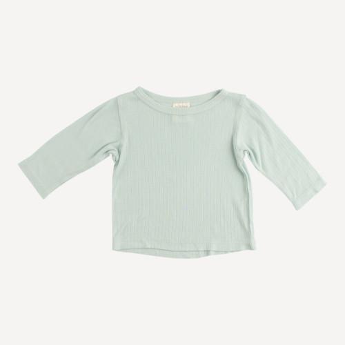 long sleeve boxy tee | modal rib | sky gray