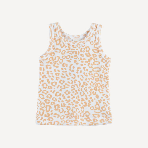 skinny strap tank | organic cotton terry | cheetah