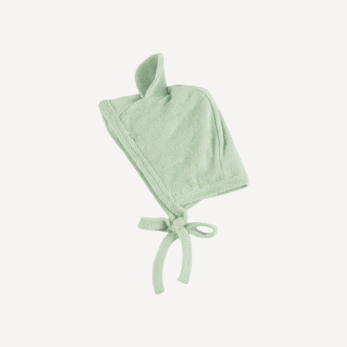 bear flight hat   organic cotton terry   smoke green