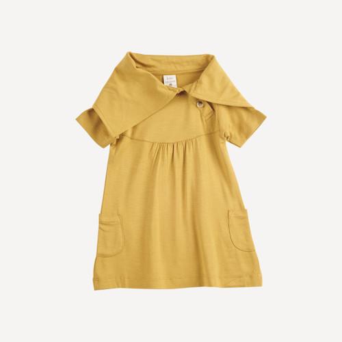 short sleeve lounge dress   bamboo   honey mustard