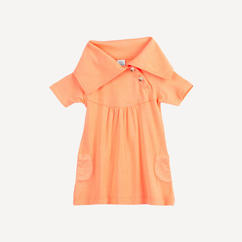 short sleeve lounge dress | bamboo | apricot