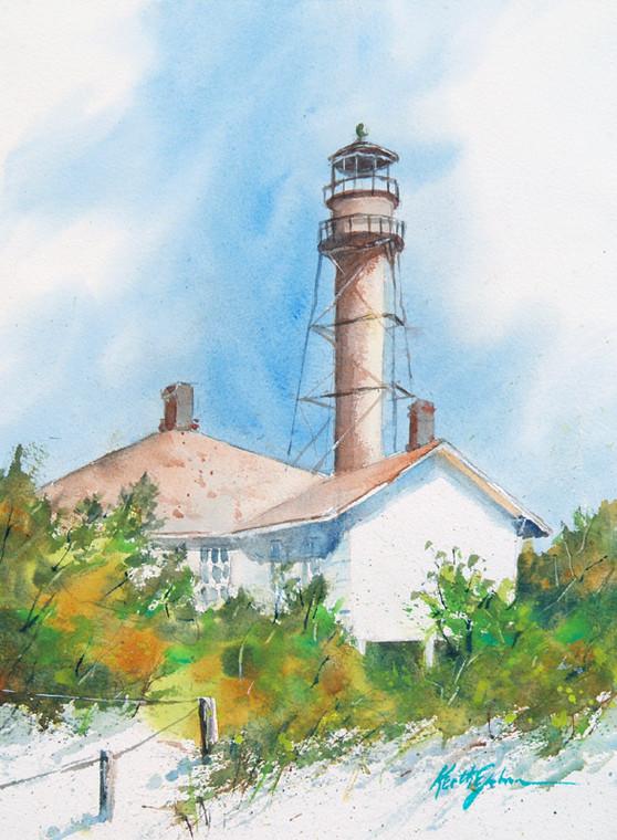 Sanibel Lighthouse Vertical View (Prints)