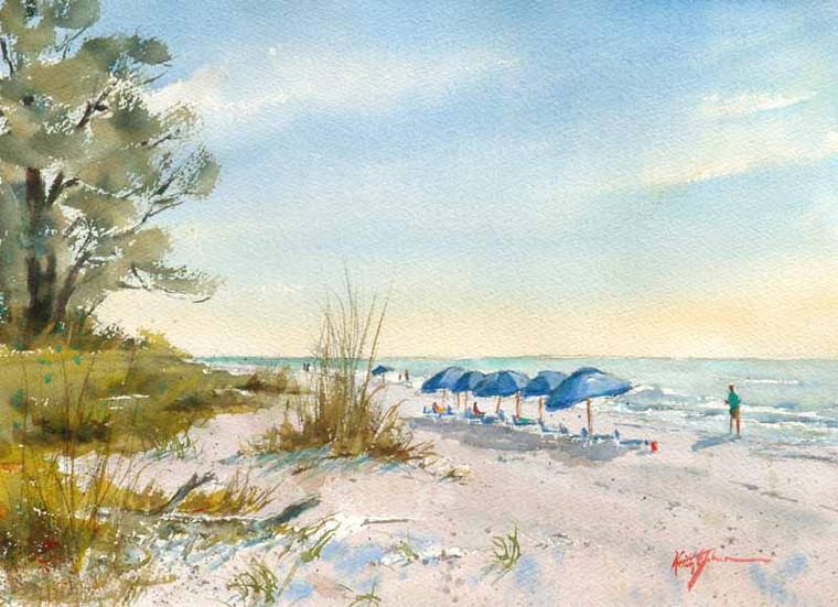 Casa  Ybel Blue Umbrellas (Prints)