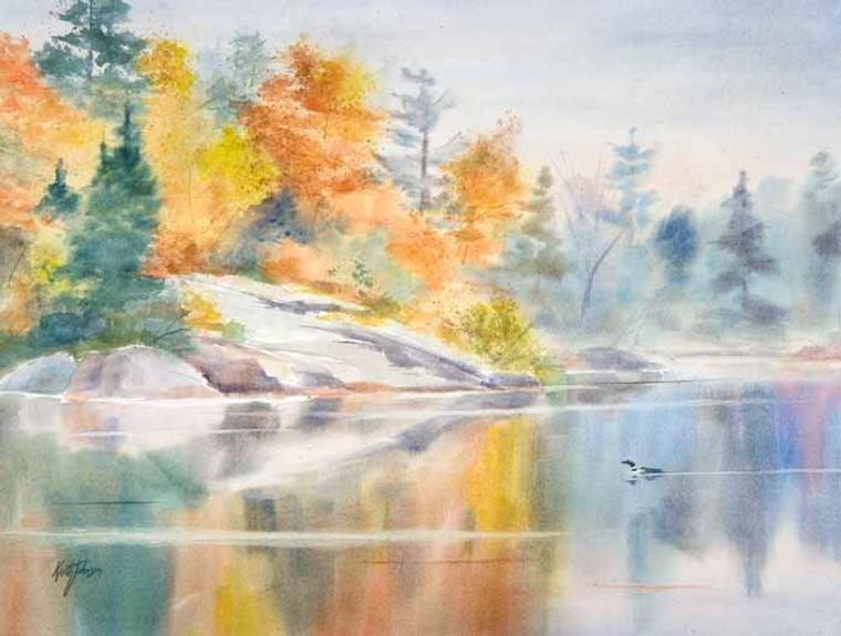 Autumn Mist (wood panel)
